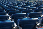 Blue Stadium Seats — Stock Photo