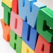 Stack of Plastic Alphabets — Stock Photo