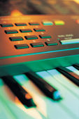 Electronic Music Keyboard — Stock Photo