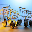 Stock Photo: Miniature Shopping Trolleys