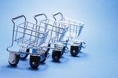 Miniature Shopping Trolleys — 图库照片