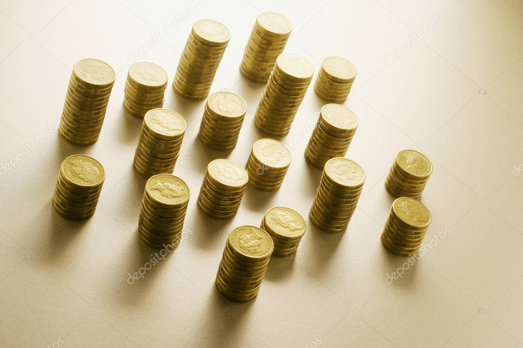 Stacks of Coins in Warm Tone — Stock Photo #6820395