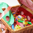 Stock Photo: Party Items in Basket
