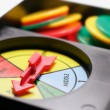 Game Wheel and Gaming Chips — Stock Photo