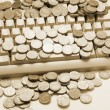 Coins on Computer Keyboard — Stock Photo #6837947