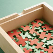 Box of Puzzles — Stock Photo