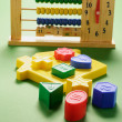 Toy Abacus and Shape Sorter Blocks — Stock Photo