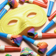 Stock Photo: Face Mask and Party Blowers