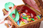 Party Items in Basket — Stock Photo