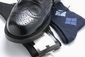 Man's Shoe and Socks — Stock Photo