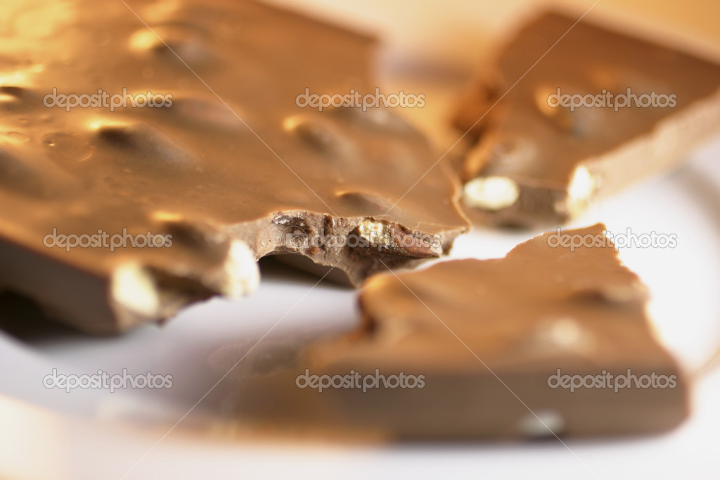 Close Up of Chocolate with Nuts  Stock Photo #6837984