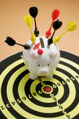 Piggy Bank and Dart Board — Stock Photo