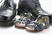 Children and Men Shoes — Stock Photo