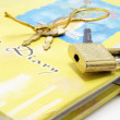 Stock Photo: Diary with Lock and Keys