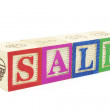 Alphabet Blocks - Sale — Stockfoto