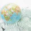 Globe on Tinsels — Stock Photo