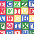 Stock Photo: Alphabet Blocks