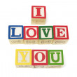 Aphabets - I love you — Stock Photo