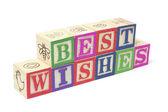 Alphabet Blocks - Best Wishes — Stock Photo