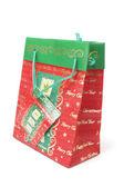 рождественские покупки мешок — Стоковое фото