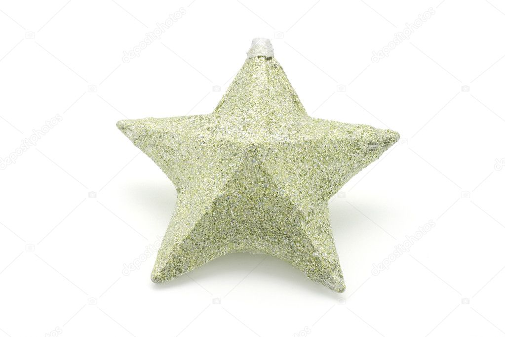 Christmas Star Ornament on White Background — Stock Photo #6894702