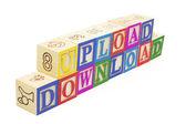 Blocs de l'alphabet - téléchargement et télécharger — Photo