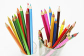 Lápis de cor em vidros — Foto Stock