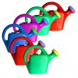 Plastic Watering Cans — Stock Photo #6911964