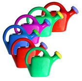 Plastic Watering Cans — Stock Photo