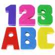 Alphabets and Numbers — Stock Photo