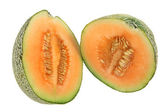 Halves of Rock Melon — Stock Photo