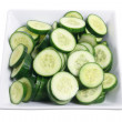 Plate of Lebanese Cucumber — Stock Photo