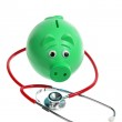 Piggy Bank and Stethoscope — Stock Photo