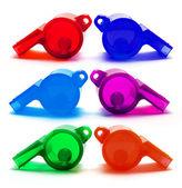 Plastic Whistles — Stock Photo