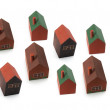 Wooden Miniature Houses — Stock Photo