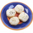 Plate of Chinese Meat Dumplings — Stock Photo #7663864