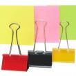 Adhesive Note Papers and Paper Clips — Stock Photo