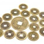 zabytkowe chińskie monety — Zdjęcie stockowe