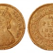 Old IndiHalf Pice coin of colonial regime 1899 — Stock Photo #7376186
