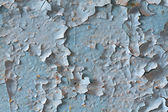 Exfoliated old blue paint — Stock Photo