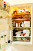 Open fridge — Stock Photo