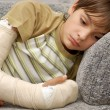 Royalty-Free Stock Photo: Boy with broken arm