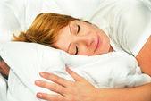 Retrato de mulher dormindo — Fotografia Stock