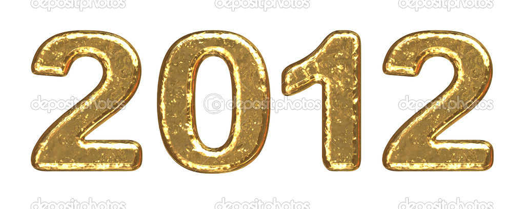 New Year 2012 inscription of gold letters — Stock Photo #6904850