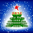 Christmas Tree 2012 — Stockvectorbeeld