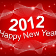 New Year 2012 red background — Stock Vector