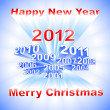 New Year 2012 light background - Imagen vectorial