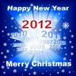 Merry Christmas 2012 blue background - Imagen vectorial