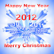 New Year 2012 background - Imagen vectorial