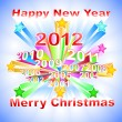 New Year 2012 colorful background — Stock Vector